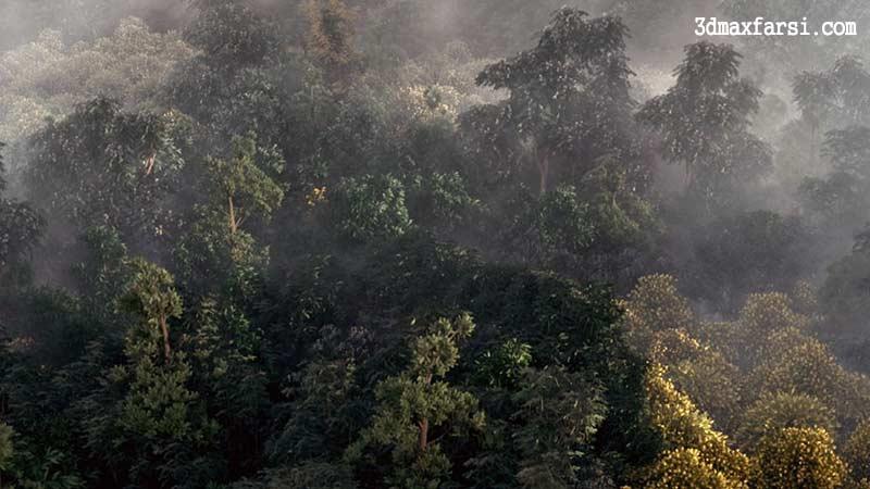 آموزش ساخت جنگل در 3d max و Vray