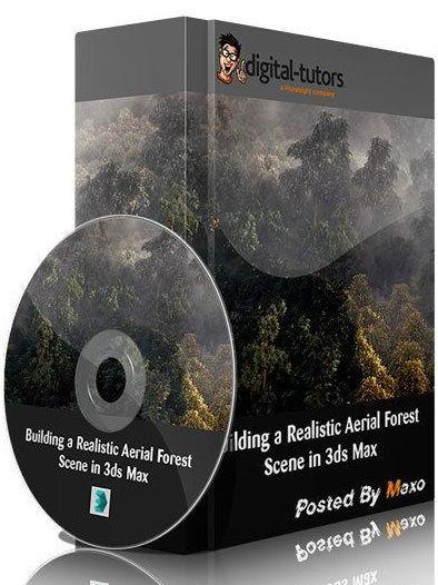 ساخت جنگل دانلود رایگان آموزش Building a Realistic Aerial Forest Scene in 3ds Max