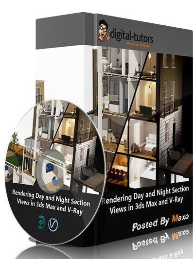 آموزش پرزانته دانلود rendering Day and Night Section Views in 3ds Max and V-Ray