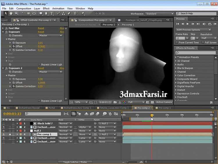 ایجاد عمق میدان دید در برنامه افتر افکت After effects | ویدئو آموزشی رایگان