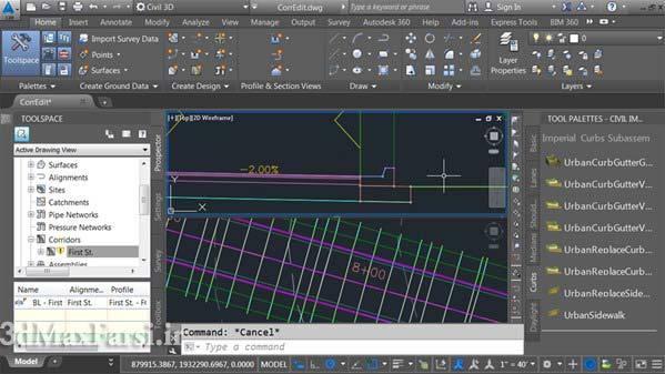 دانلود فیلم آموزشی Civil 3D Essential Training