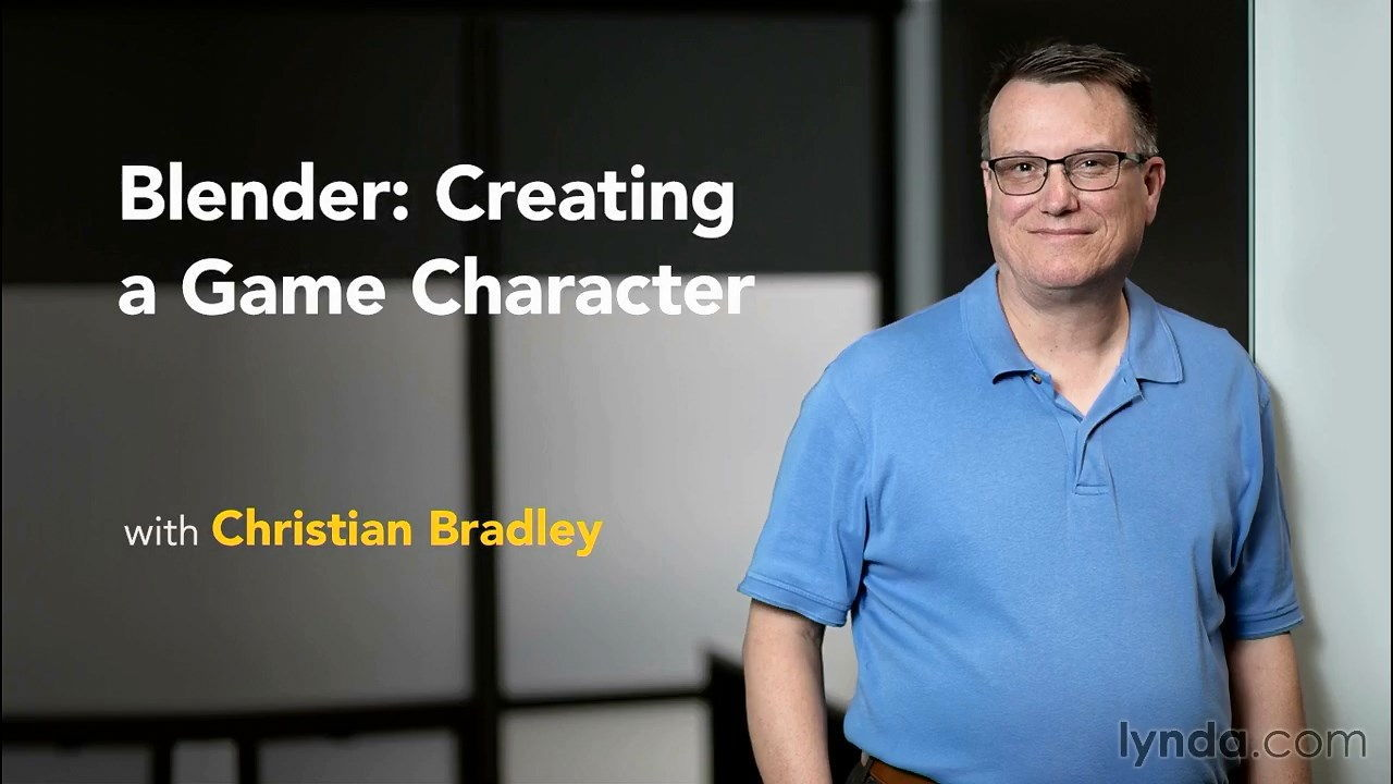 فیلم آموزش بلندر Creating a Game Character Blender