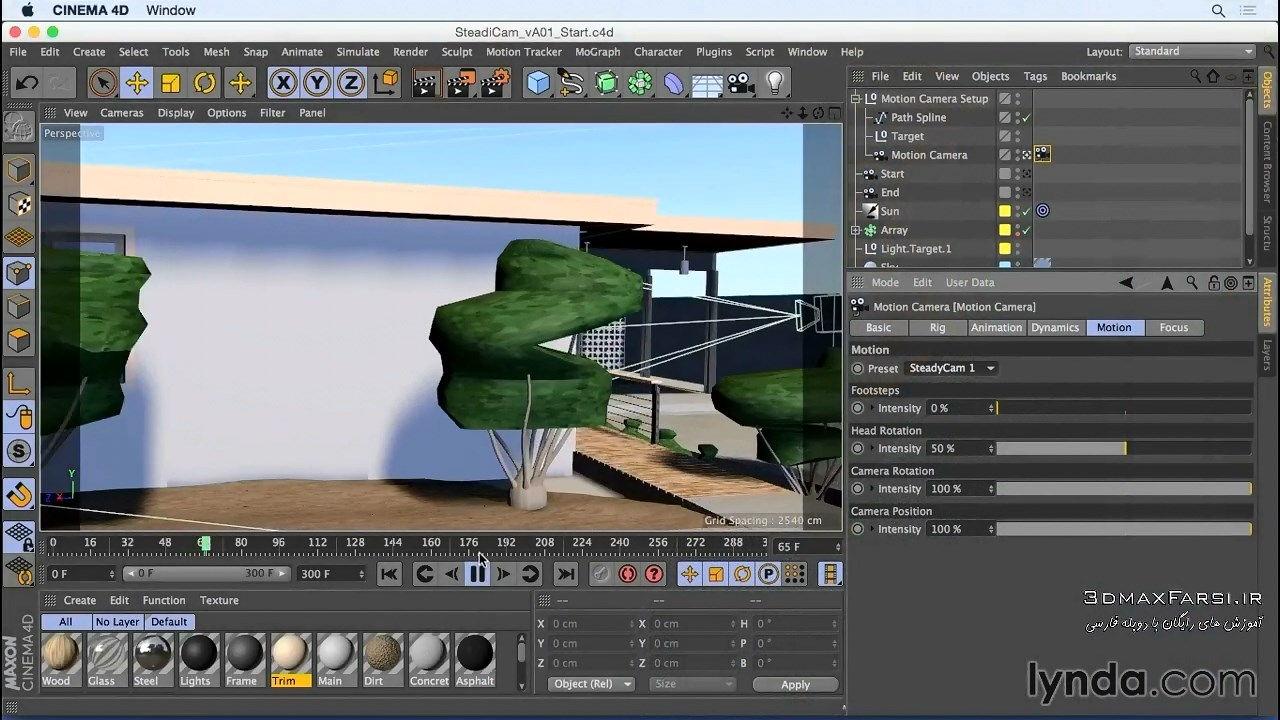آموزش انیمیشن سازی دوربین رندر معماری Animation CINEMA 4D