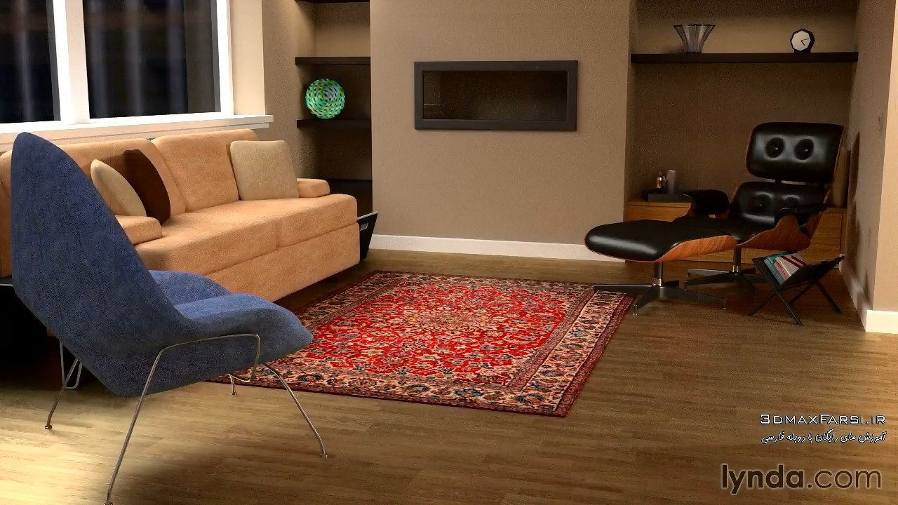 دانلود رایگان آموزش Creating Interior Scene Blender tutorial