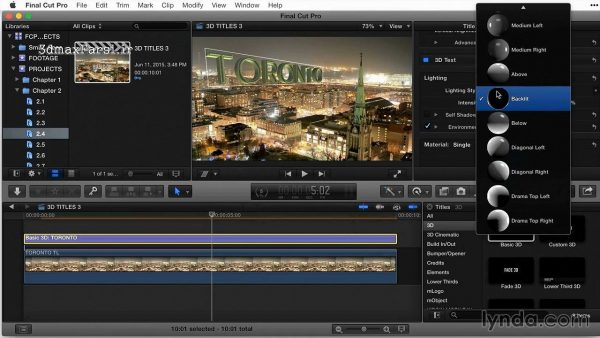 دانلود آموزش فاینال کاتFinal Cut Pro X