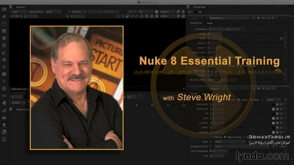 دانلود آموزش Nuke 8 Essential Training course