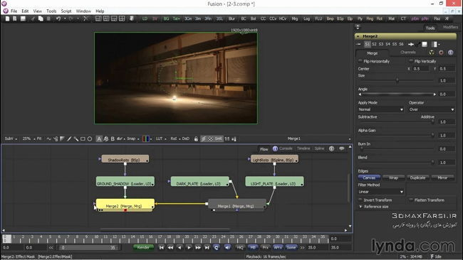 آموزش ترکیب افکت انفجار فیلم فیوژن Explosion Fusion VFX