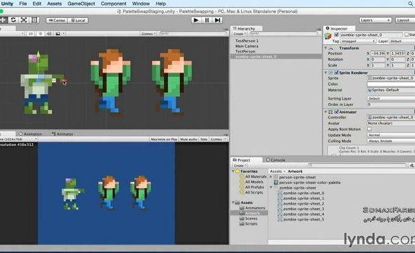 آموزش فارسی Advanced Unity 2D Sprite Palette Swapping
