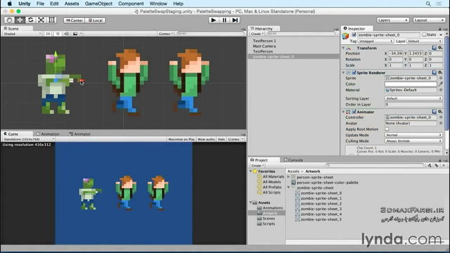 آموزش فارسی Advanced Unity 2D Sprite Palette Swapping