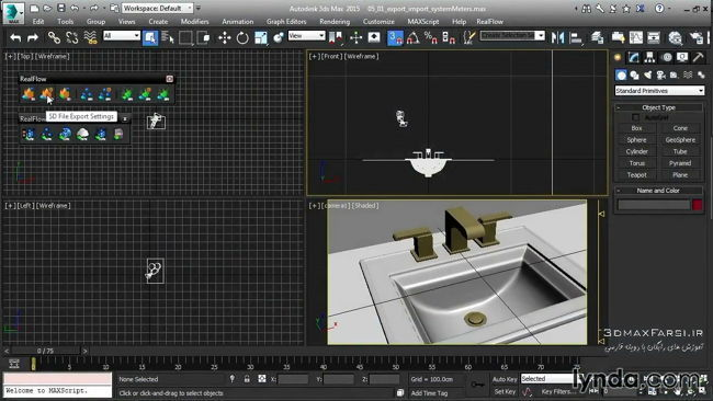 آموزش soft-body physics Up and Running with RealFlow