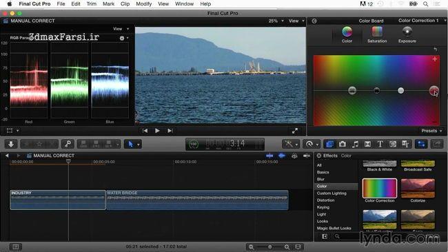 آموزش اصلاح رنگ در فیلم با نرم افزار Final Cut Pro X Guru