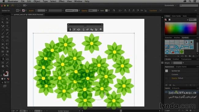 دانلود آموزش ادوبی ایلاستریتر سمبل Using Symbols Illustrator