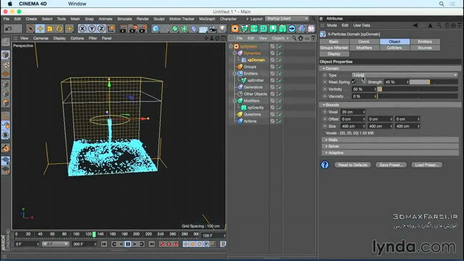 دانلود آموزش ذرات X-Particles CINEMA 4D سینمافوردی