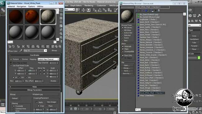 آموزش ساخت متریال با کیفیت چوب Textures and Materials in 3ds max mental ray