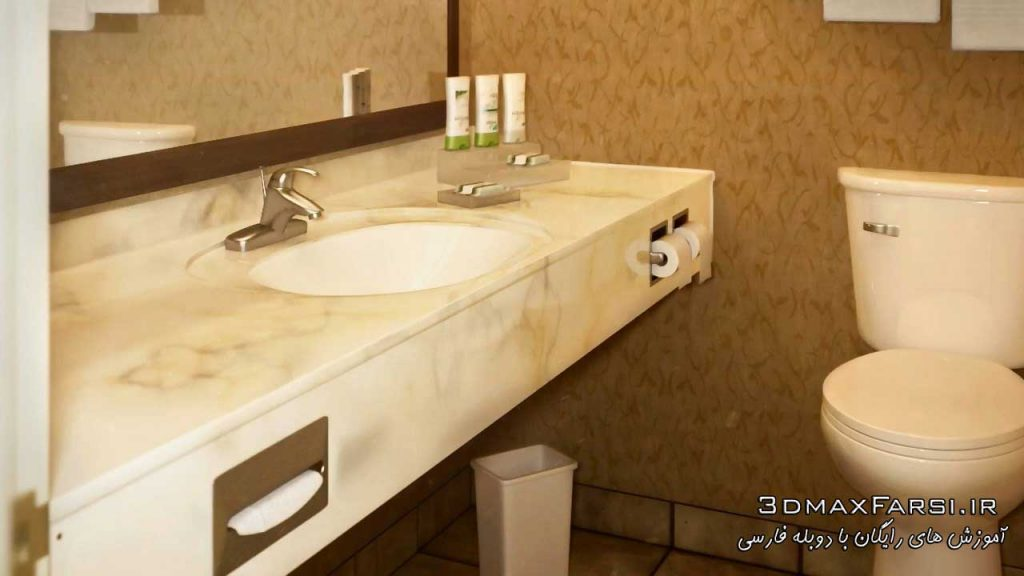 دانلود آموزش Creating a Bathroom Visualization in 3ds Max and V-Ray