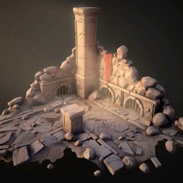دانلود آموزش Sculpting a Stylized Game Environment in ZBrush and 3ds Max