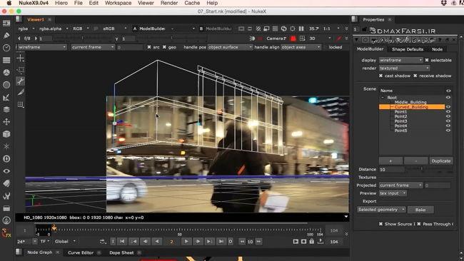 دانلود رایگان آموزش Creating Futuristic Set Extension NUKE