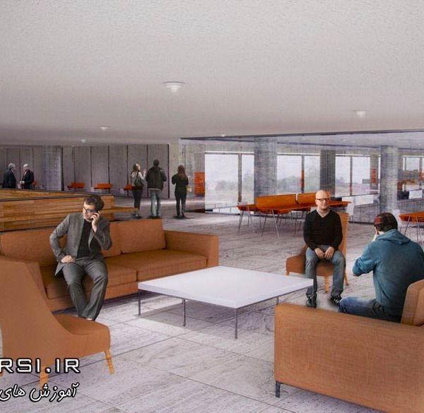 دانلود رایگان آموزش Creating Large Scale Interior Renderings CINEMA 4D