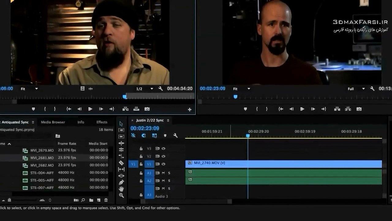آموزش تدوین فیلم های مستند در پریمیر پرو Editing Premiere Pro