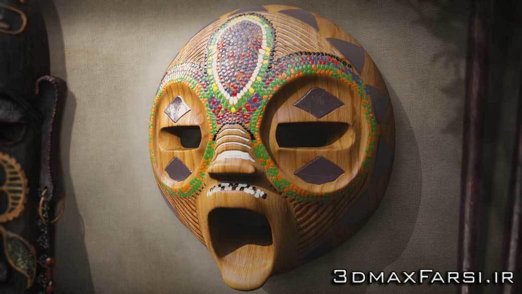آموزش مدلسازی و رندر ماسک آفریقایی : پرینت سه بعدی Maya Mudbox