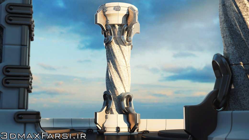 آموزش مدلسازی مودولار معماری | بازی سازی تری دی مکس Games 3ds Max