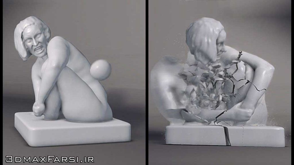 دانلود رایگان آموزش Shattering a Statue Using Bullet Physics Maya