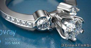 کتاب آموزش رندرگیری جواهرات Pdf پلاگین ویری Render jewelry Vray 3