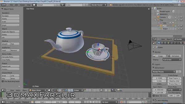 دانلود آموزش تصویری بلندر مدلسازی نورپردازی انیمیشن Blender Essential Training