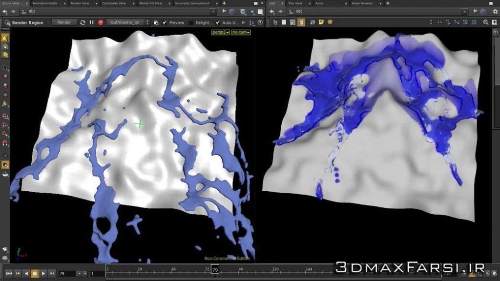 آموزش pluralsight Creating a Dynamic Wet Map Shader in Houdini