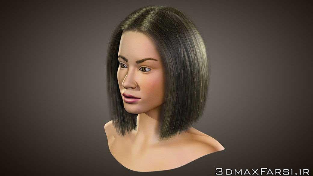 آموزش شبیه سازی ساخت مو کاراکتر انسان 3ds Max ZBrush Hair Farm