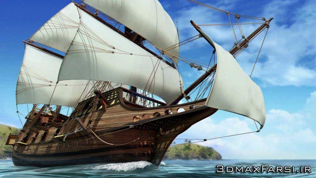 دانلود آموزش Creative Development Modeling Detailed Ship Maya