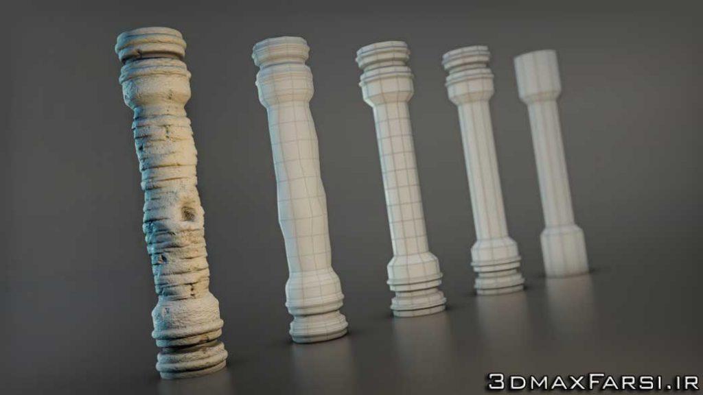 آموزش مدلسازی حجاری بهینه مادباکس تریدی مکس 3ds Max Mudbox