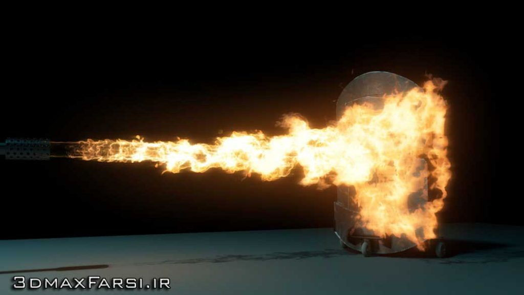 دانلود آموزش Simulating Flamethrower Effect Maya