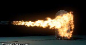 دانلود آموزش Simulating Flamethrower Effect Maya