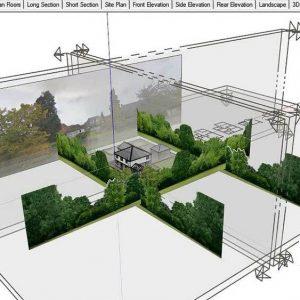 آموزش خروجی گرفتن از مدل اسکچاپ: برش نما پلان SketchUp Architecture LayOut