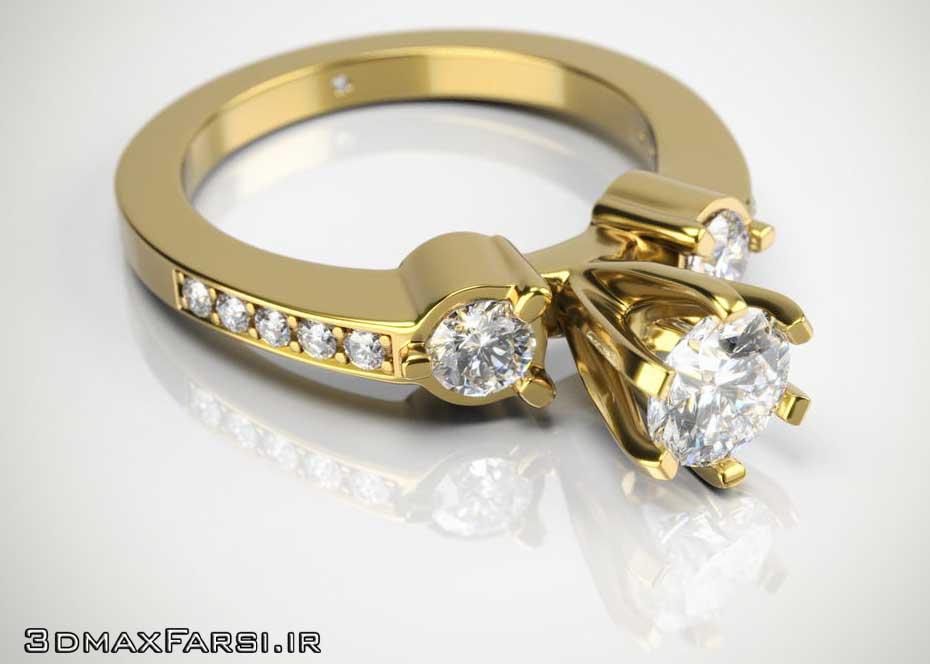 کتاب آموزش ویری pdf نورپردازی انگشتر طلا Render jewelry Vray 3
