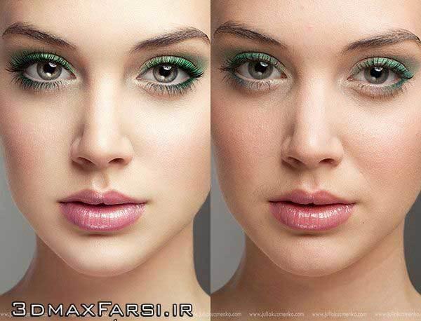 آموزش تصویری روتوش عکس چهره و صورت با فتوشاپ Photoshop Retouching