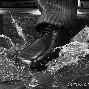آموزش جلوه ویژه و شبیه سازی پاشیده شدن آب و افکت Slow Motion