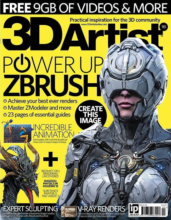 آموزش زیبراش pdf دانلود رایگان مجله گرافیکی نرم افزار زیبراش ZBrush 3D Artist Issue 93