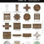 پک تصاویر لوازم دکوراسیون طراحی معماری 3DM Floor Plan Blocks