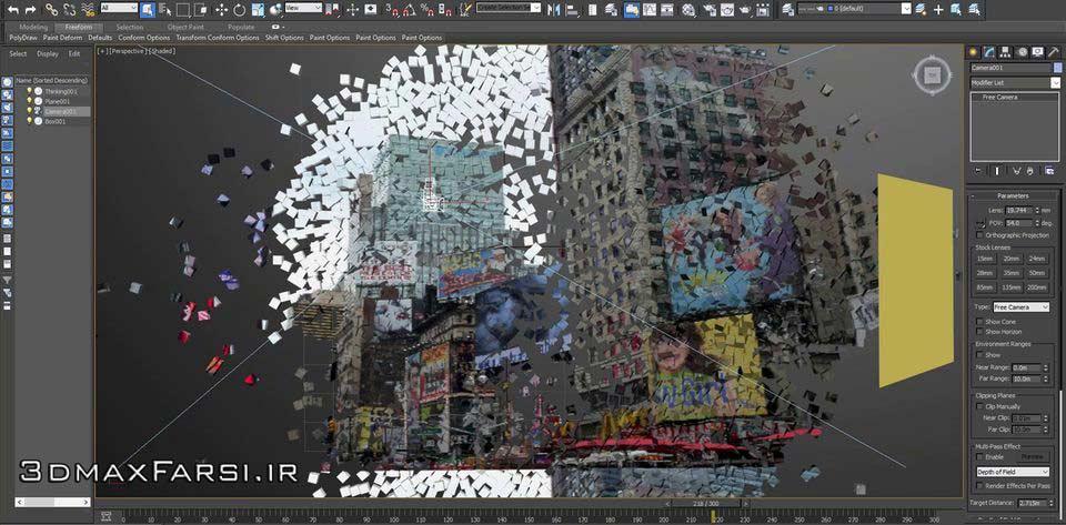 دانلود پلاگین تخریب تری دی مکس + آموزش تصویری کامل3DS Max Cebas Thinking Particles video