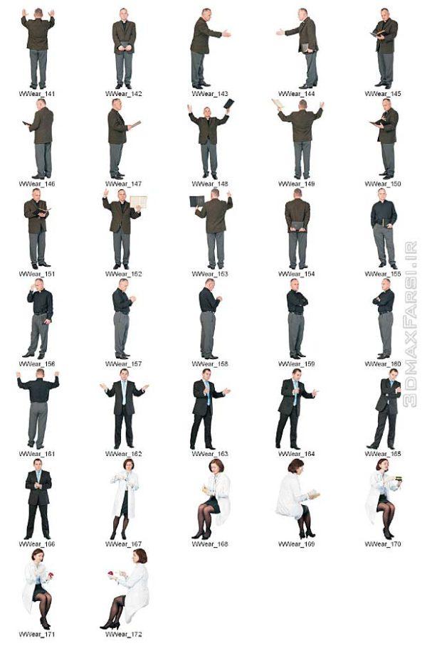 دانلود پرسوناژ اشخاص در حال کار بیزینس 2D Viz Images People Workwear