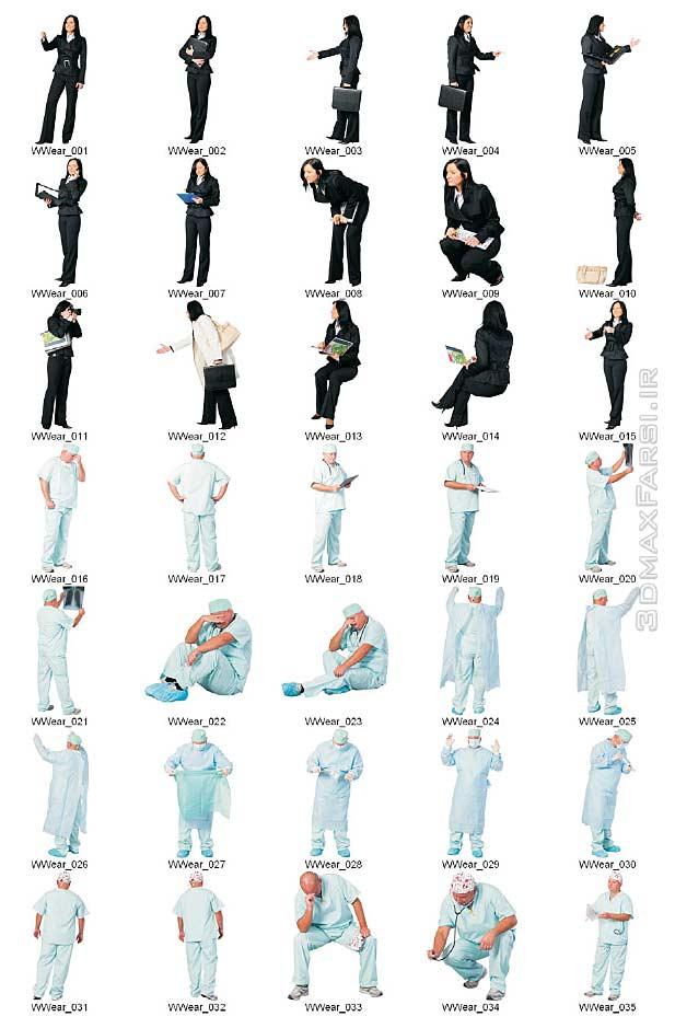 دانلود رایگان تکسچر انسان Dosch Design - 2D Viz Images People Workwear