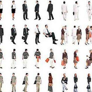 دانلود رایگان پرسوناژ انسان جمعیت تصاویر دوبعدی تکسچر Dosch Design Urban People Textures