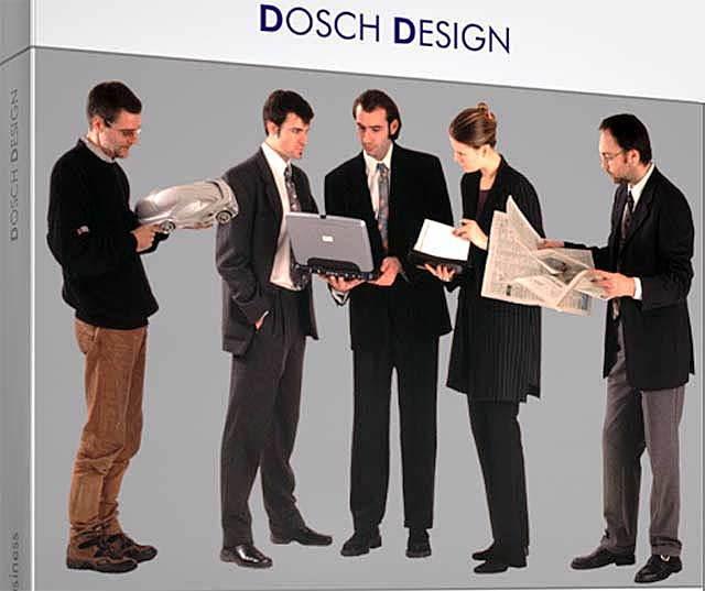تصاویر دو بعدی انسان برای پست پروداکشن فتوشاپ Dosch Design People Business