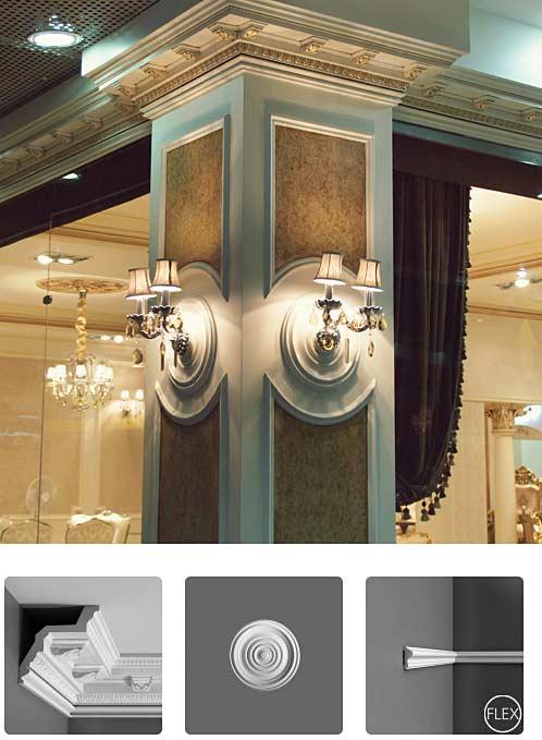 نمونه اجرا شده نما رومی مدل سه بعدی ستون کلاسیک Orac Decor Furniture