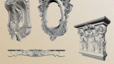 Photo of دانلود آبجکت گچبری مودولار Stucco Mouldings & Picturesque Elements