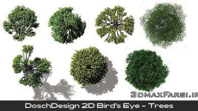 دانلود تصاویر دوبعدی درخت و بوته از دید پرنده DoschDesign Trees 2D Bird's Eye