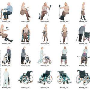 دانلود رایگان تکسچر پرسوناژ دوبعدی انسان: بیمارستان سالمندان Dosch Design - 2D Viz People Seniors Handicapped