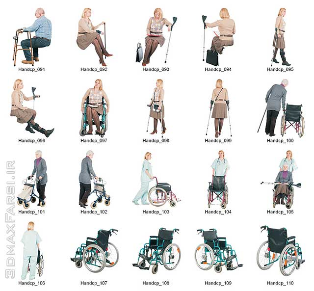 2D Viz People Seniors Handicapped